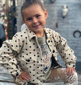 Kids Ambika Jacket Mimi Black Dot Beige