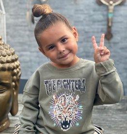 Kids Ambika Sweater Kiki Tiger Green