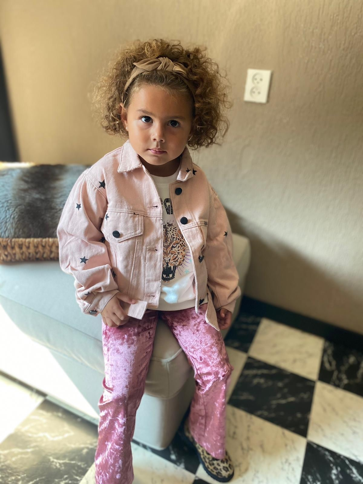 Kids Ambika Flared Pants Peg Pink