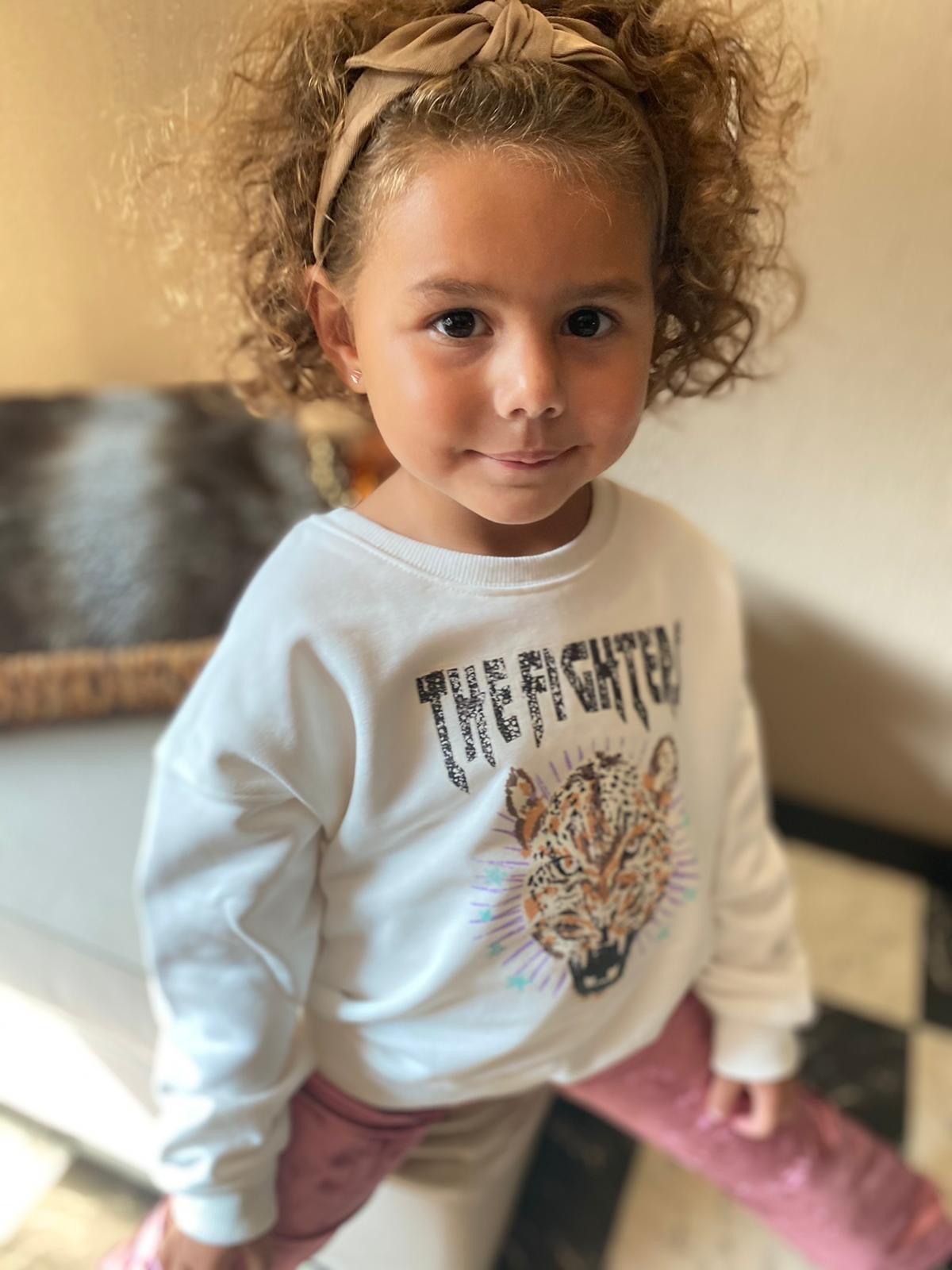 Kids Ambika Sweater Kiki Tiger White