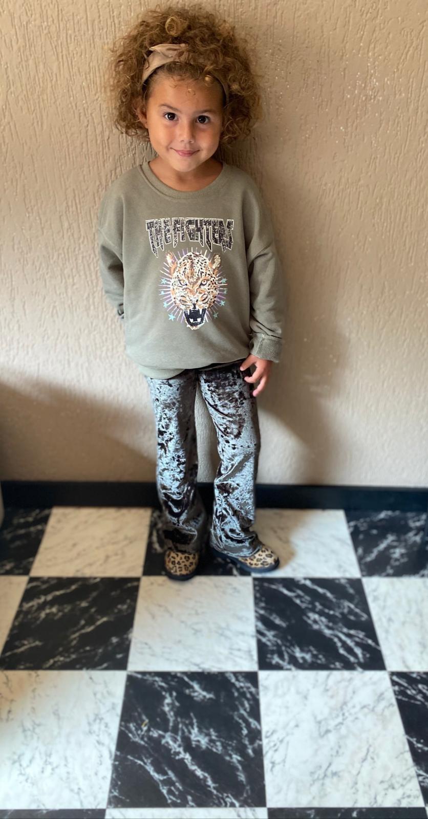 Kids Ambika Flared Pants Peg Green