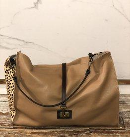 2032 Bag Leather Dot Beige