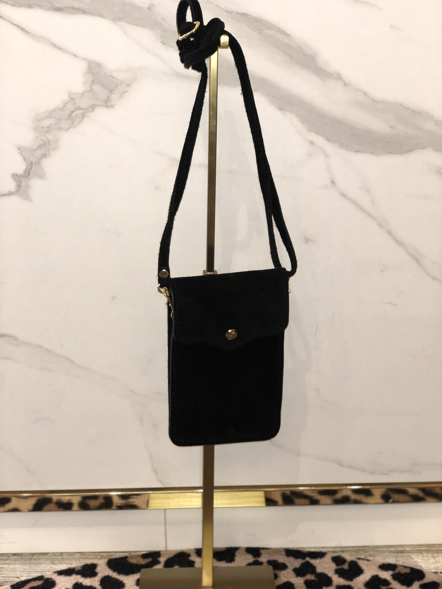 2015 Lipstick Bag Suede Black