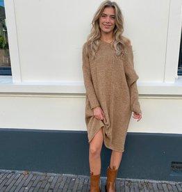 2035 Dins Tricot Sweater Dress 2.0 Camel