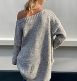 2037 Dins Tricot Sweater Short Grey White