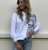 2054 Coastmoda Tiger Sweater White