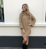 2057 Sweater Dress Col Camel