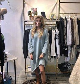 2060 Dins Tricot Sweater Dress LZ Aqua Blue