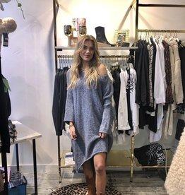 2060 Dins Tricot Sweater Dress LZ Nail Blue