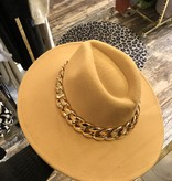 2067 Hat Golden Chain Camel