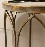 Italiaans Spiegel Tafeltje Gold