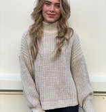 2068 Jumelle Perfect basic Knitted Sweater Taupe