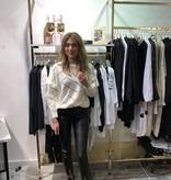 8237 By Clara Leather Pants Split Black