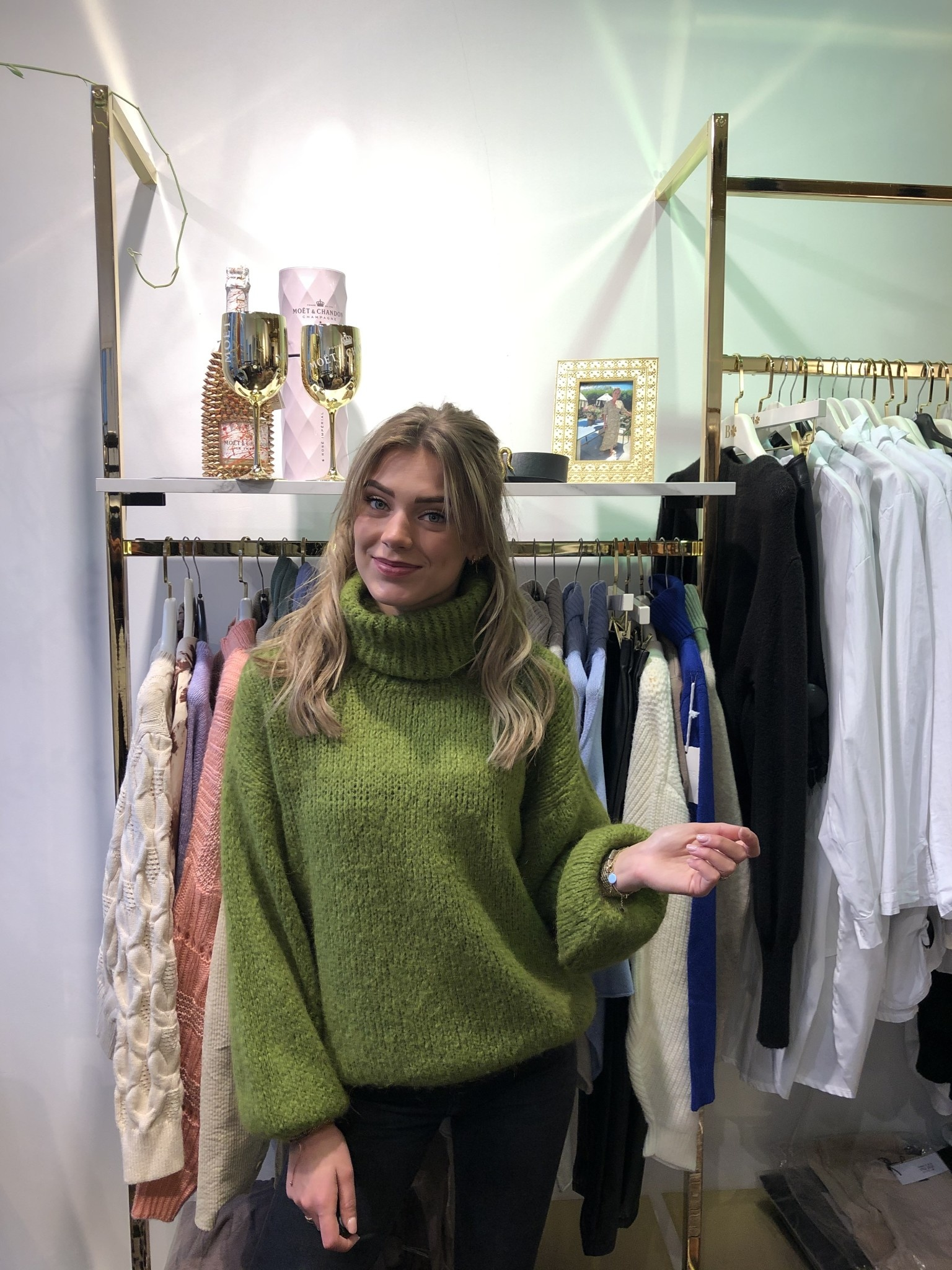 2088 NT Fashion Col Sweater Wool Green