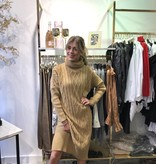 1426 Cable Sweater Dress Long Camel