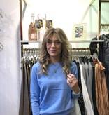 002 Ambika Basic Glitter Detail Sweater Blue
