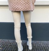 8237 By Clara Leather Pants Beige