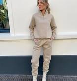 11651 Ambika Comfy Zip Sweater Pants Beige