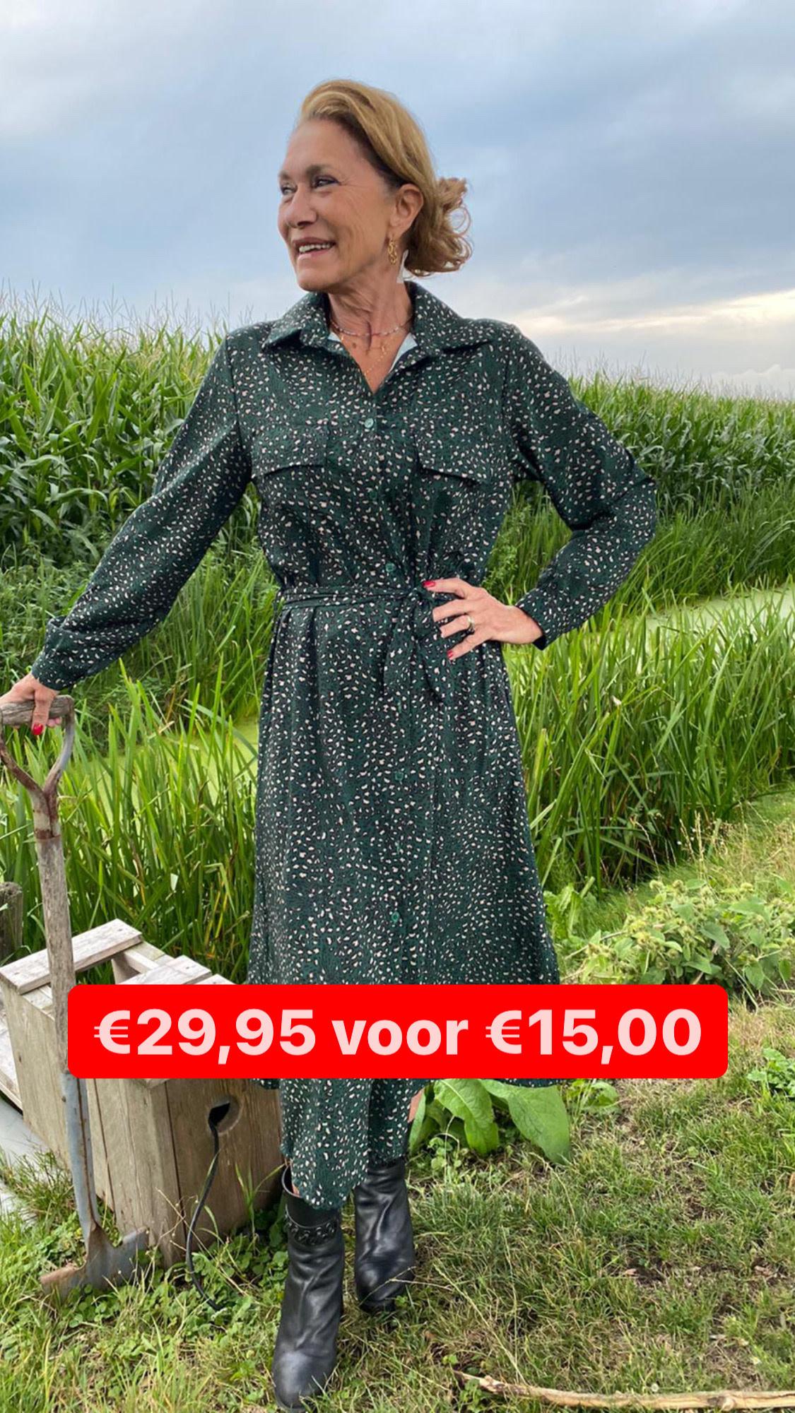 93761 Jumelle Dress Maxi Panter Green