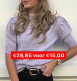 246 Sobe T-shirt Pof Sleeve Lila
