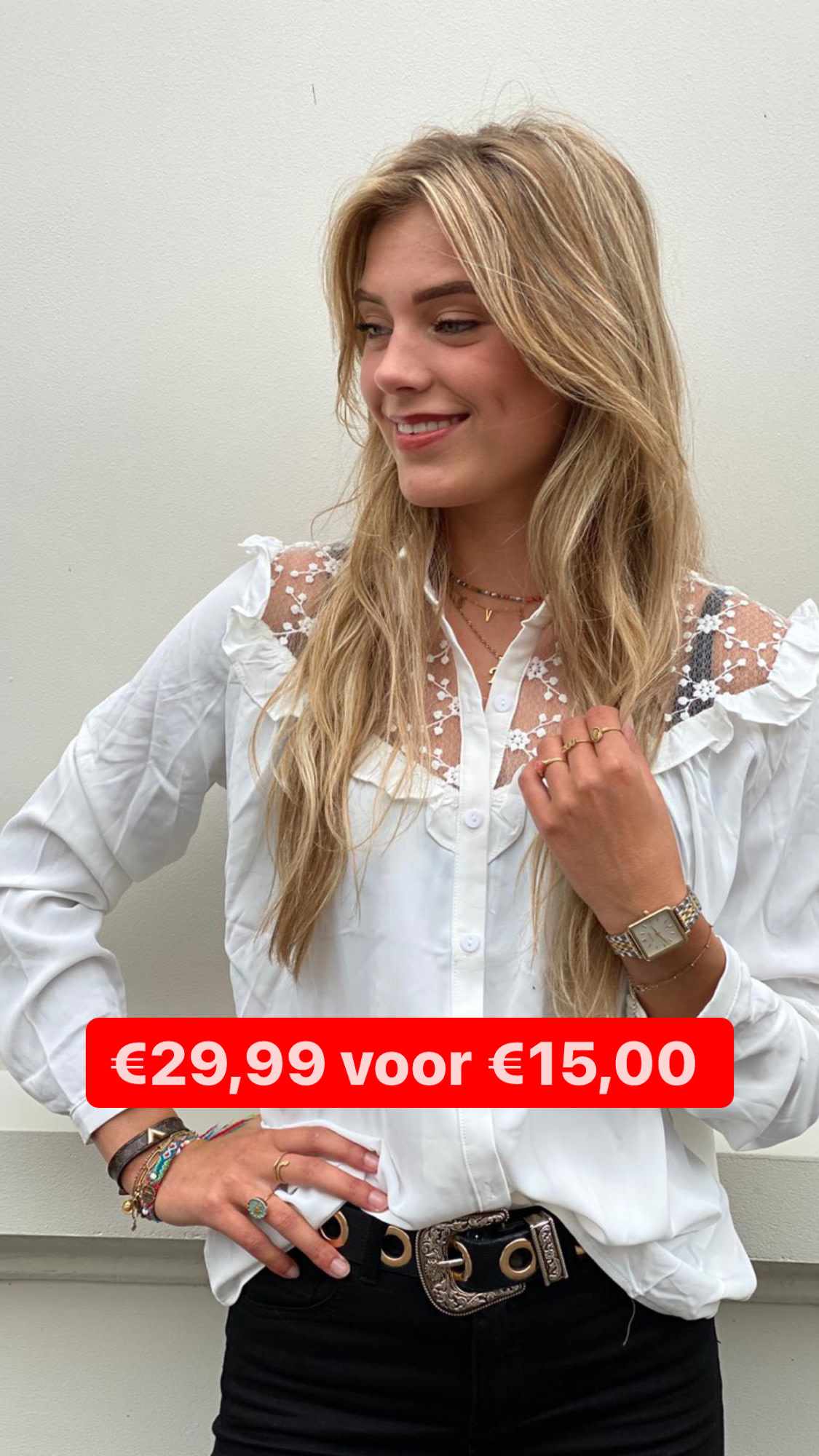 2220 Unika Blouse Lace White