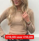 16065 Jumelle Lace Up Crop Top Camel