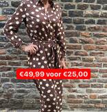 24 Akoz De Toi Dress Big Stip Brown