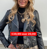 049 Giorgia Leather Jacket Black