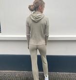 19710 Ambika Comfy Hoodie Suit Straight Pants Sand