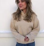 3270 Ambika Zip Sweater Beige