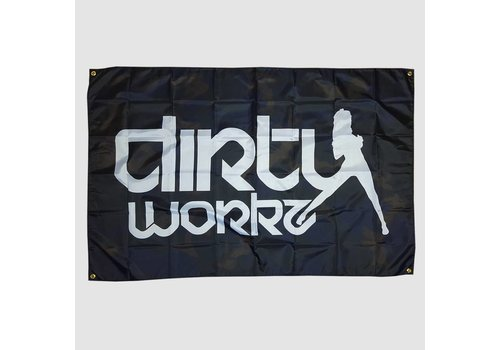 Dirty Workz - Camo Flag