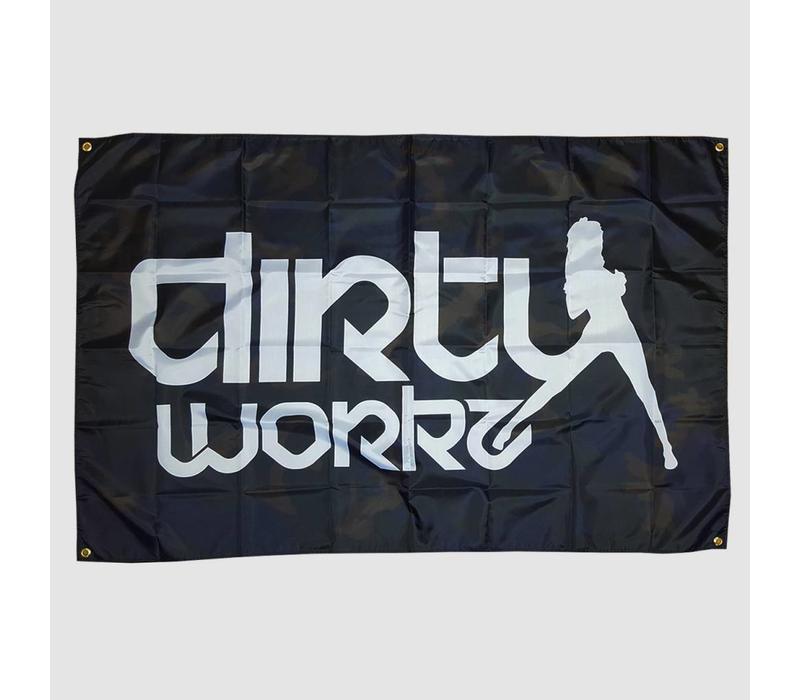 Dirty Workz - Camo Flag