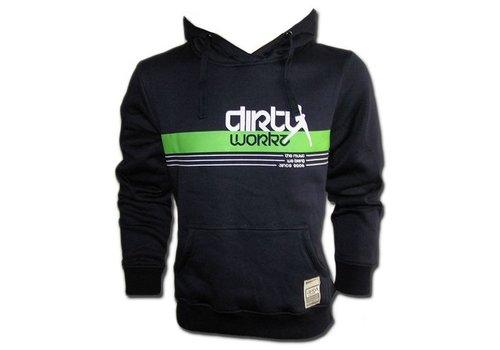 Dirty Workz - Banner Design Hoody Green