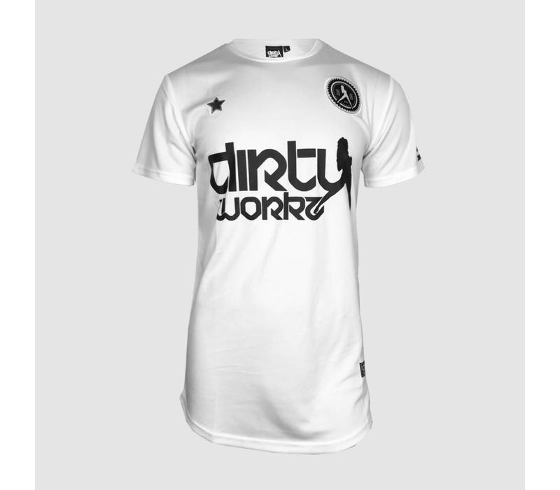 Dirty Workz - White Soccer Shirt