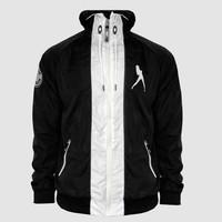Dirty Workz - Black & White Windbreaker Jacket