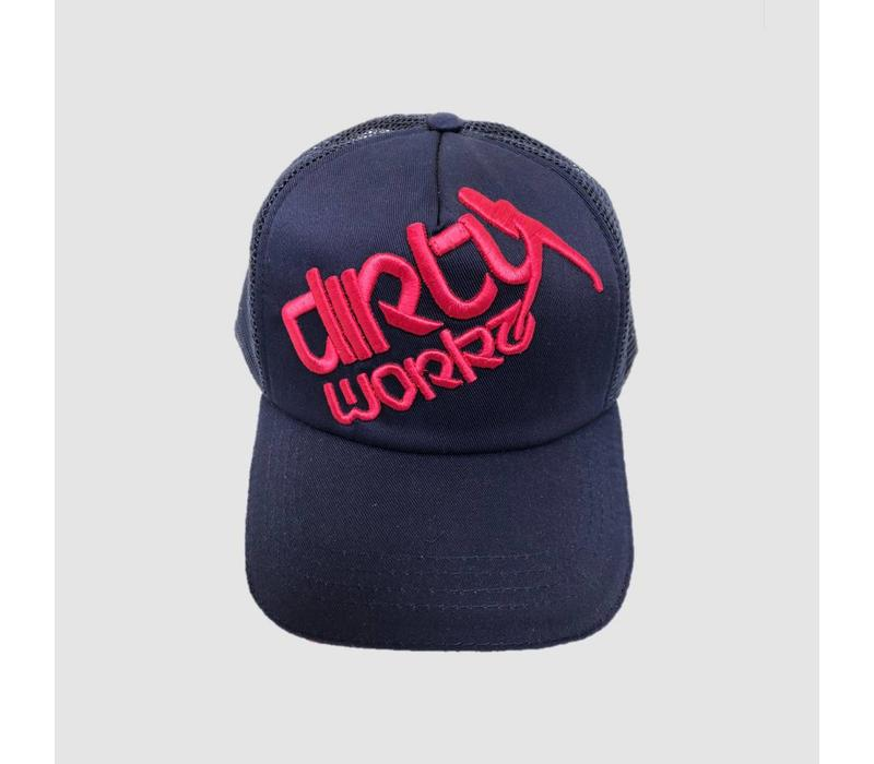 Dirty Workz - Cap Blue/ Fluo Pink