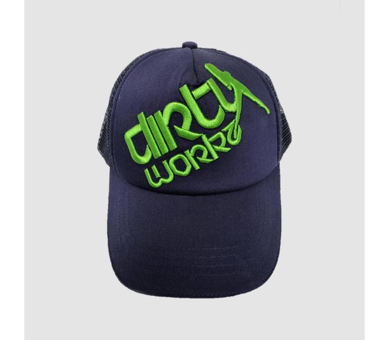 Dirty Workz - Cap Blue/ Fluo Green