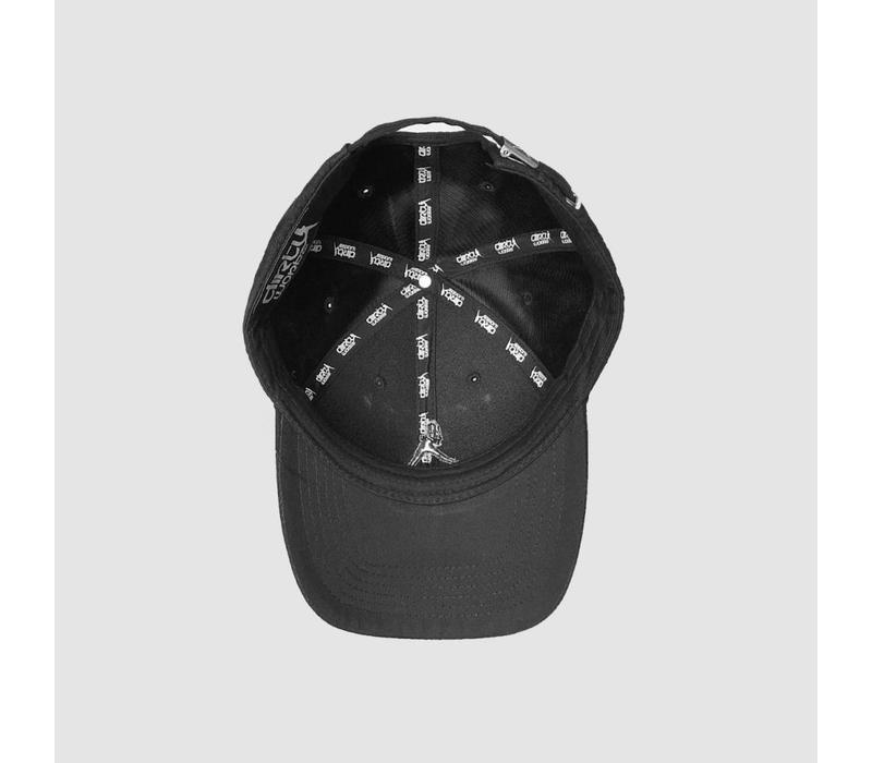 Iconic Black Suede Cap