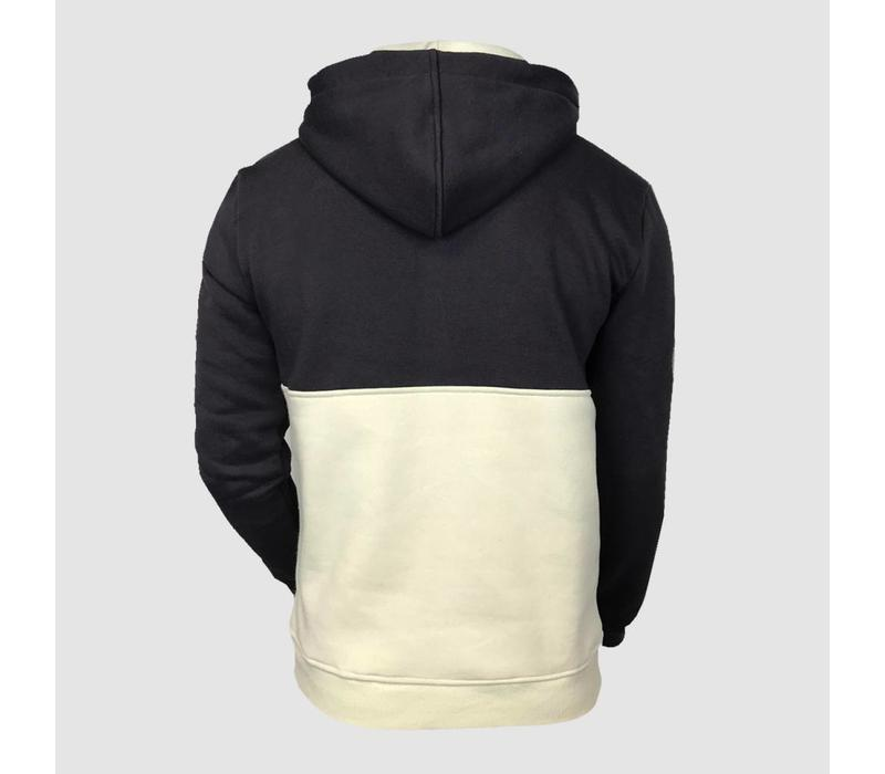 Dirty Workz - Anthracite & Ice Half Zipped Sweater