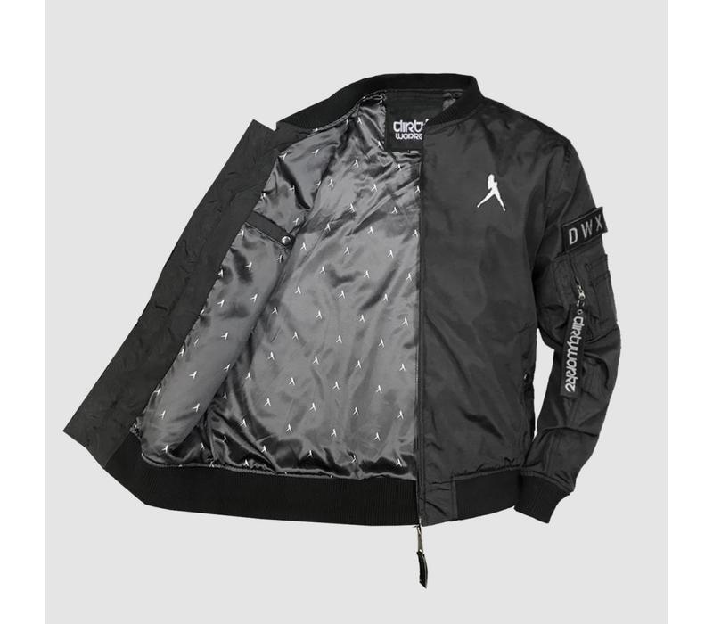 Dirty Workz - Iconic Black Bomber Jacket