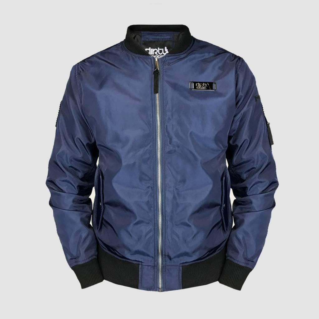 prevalent buy sells Dirty Workz - Blackout Blue Bomber Jacket - Dirty Workz Shop