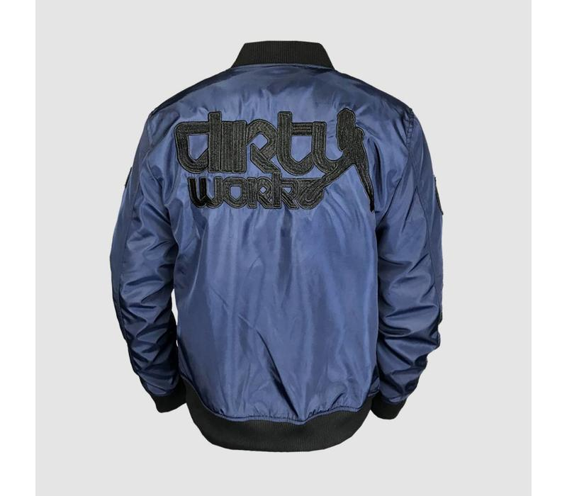 Dirty Workz - Blackout Blue Bomber Jacket