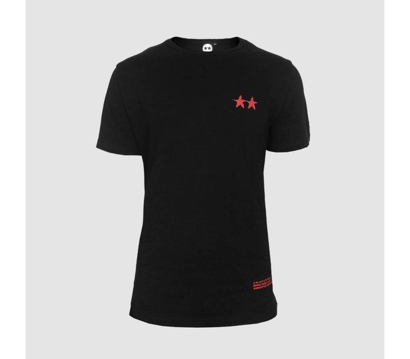 D-Block & S-te-Fan - Distressed Red Logo  T-Shirt