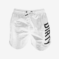 Dirty Swim Shorts - White