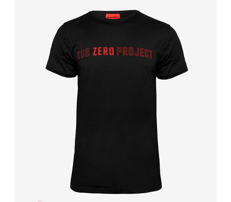 Sub Zero Project - Outline T-shirt Black/Red