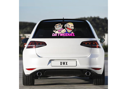 Da Tweekaz - Cartoon Logo Carsticker