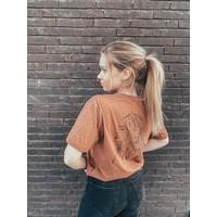 Mandy - Silhouette T-Shirt Camel