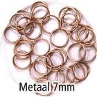 Dubbel oog - Rosé gold - Metaal - 7mm