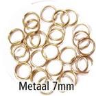 Dubbel oog - Goud - Metaal - 7mm