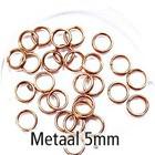 Dubbel oog - Rosé gold - Metaal - 5mm